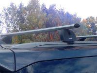 Багажник на крышу Toyota Fortuner II 2015-…, Lux, аэродинамические дуги (53 мм) на интегрированные рейлинги