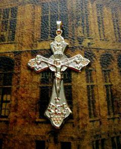 Позолоченный массивный крест (арт. 250309)