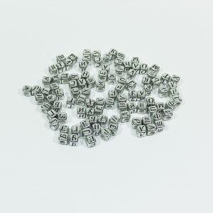 "Бусины с буквами 6 мм, ""Русский алфавит"" (1уп = 20шт), Арт. БС1116-20"