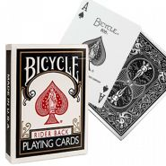 Игральные карты Bicycle Rider Back Black (чёрная)