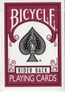 Игральные карты Bicycle Rider Back Playing Cards Marsala (бордовые)