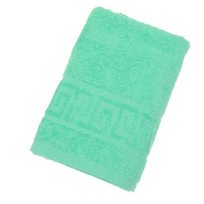 Полотенце махровое однотонное Антей 100х180 см, молодая зелень, 100% хлопок, 430 гр/м2