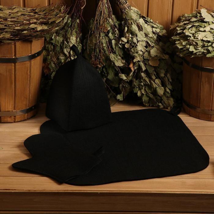 Набор: шапка+рукавица+коврик (в пакете) 5290334