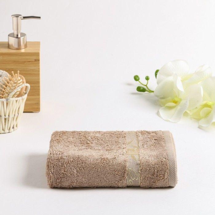 Полотенце махровое Бамбук 030 70х130  см, бежевый, бамбук 100%,  450г/м2 4857866