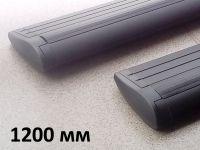 Дуги багажные, крыловидные 82 мм (аэро-трэвэл), черный цвет, Lux - 1200 мм, артикул 793310