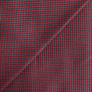 Хлопок Красно-зеленая клетка 50х40