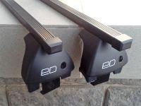 Багажник на крышу Ravon R3 2015-..., Евродеталь, стальные прямоугольные дуги