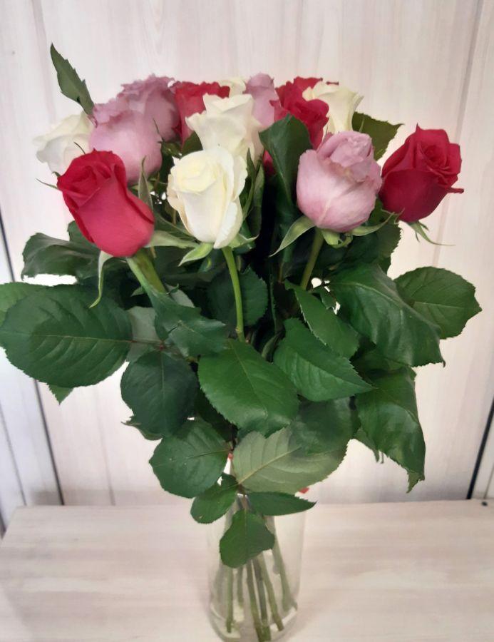 15 роз Микс (60 см)