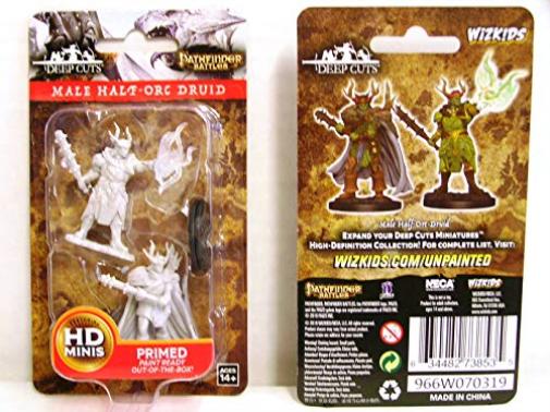 Pathfinder Deep Cuts Male Half-Orc Druid