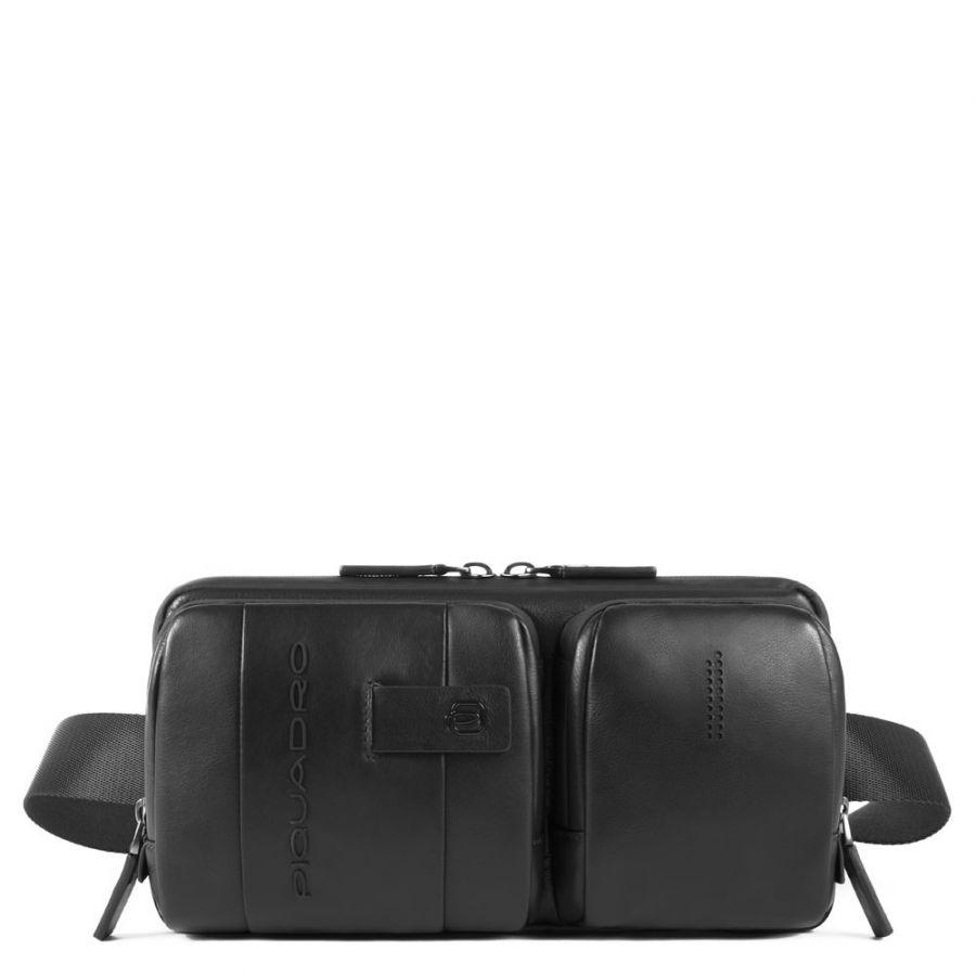 Поясная сумка Piquadro CA4975UB00/N кожаная черная