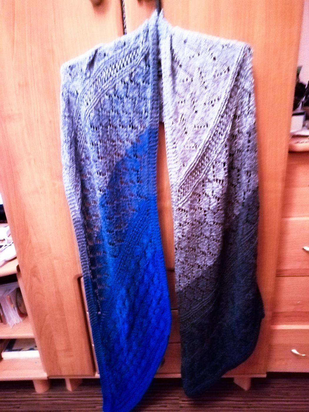 Ажурный шарф-палантин(секционное окрашивание)