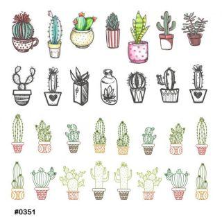 Слайдер-дизайн для ногтей № 0351
