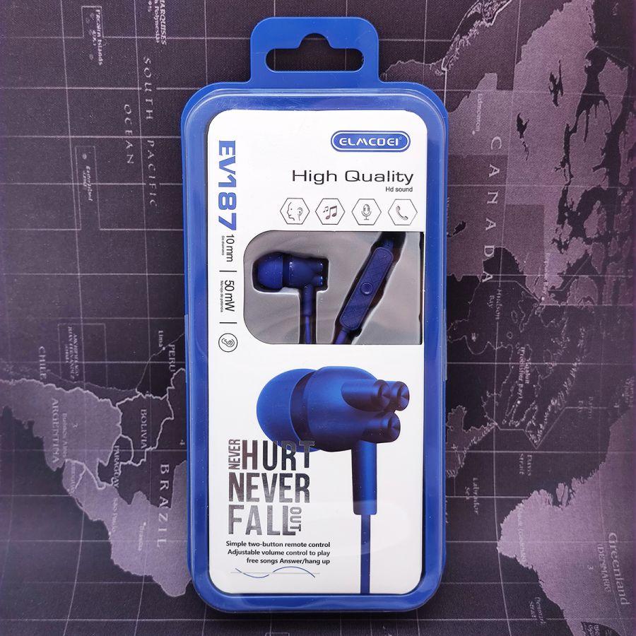ELMCOEI EV-187 Синие наушники-гарнитура