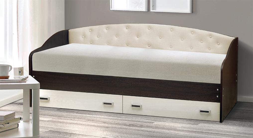 Кровать с мягким элементом Софа-7