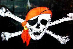 Пиратский платок-флаг Череп (140 см)