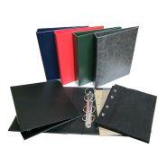 Альбом вертикальный 230х270мм, бумвинил, с листами для значков на ткани (АВ ТЗ)