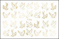 Freedecor, Фольгированный слайдер Арт. F30g Животные, птицы