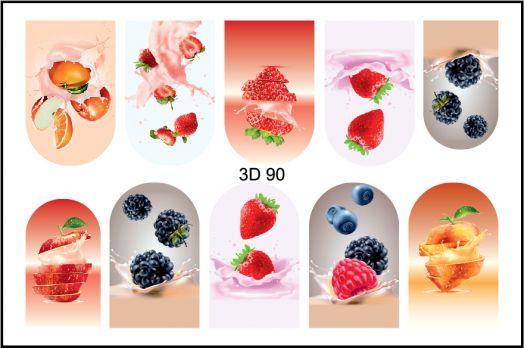 FREEDECOR 3D слайдер дизайн Арт. 3D-090 Фрукты, овощи, ягоды