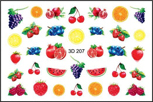 FREEDECOR 3D слайдер дизайн Арт. 3D-207 Фрукты, овощи, ягоды