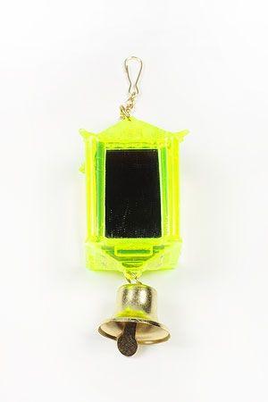 Игрушка Beeztees для птиц Фонарик зеркальный с колокольчиком  пластик  100*70*50мм