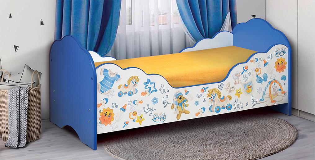 Кровать детская с фотопечатью для мальчиков Малышка № 3