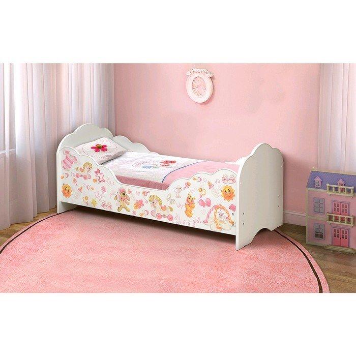 Кровать детская с фотопечатью для девочек Малышка № 4