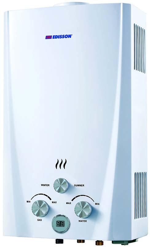 Проточный газовый водонагреватель Edisson Flame F 20 D (ЭдЭ000221)