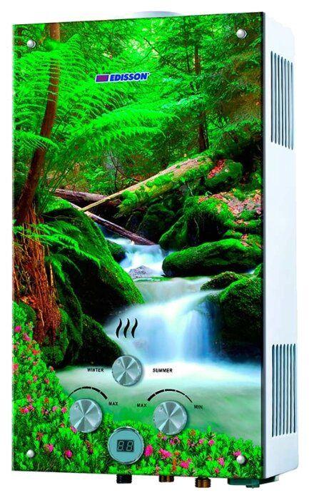 Проточный газовый водонагреватель Edisson Flame F 20 GD (Лес) (361104)