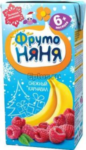 ДП Нектар МАЛЫШАМ 200мл Смесь фруктов банан/яблоко/вишня/малина с 6 мес т/п