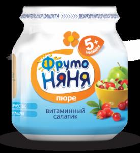 ДП Пюре ФРУТОНЯНЯ 100г Яблоко/шиповник/клюква