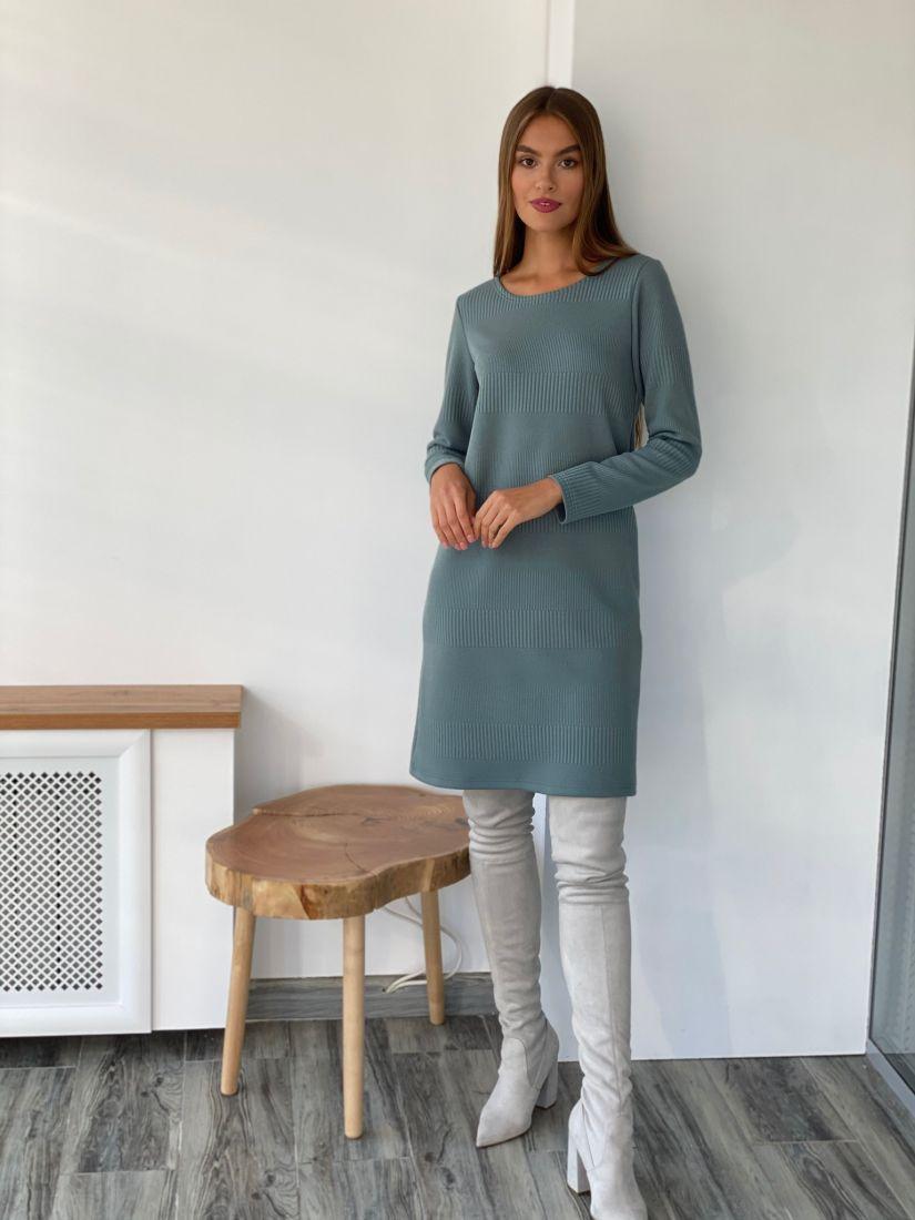 """s2487 Платье-свитер в цвете """"лондон"""""""