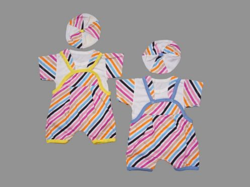 Костюм: песочник, футболка, берет kC-KS4604-SUk / полоска