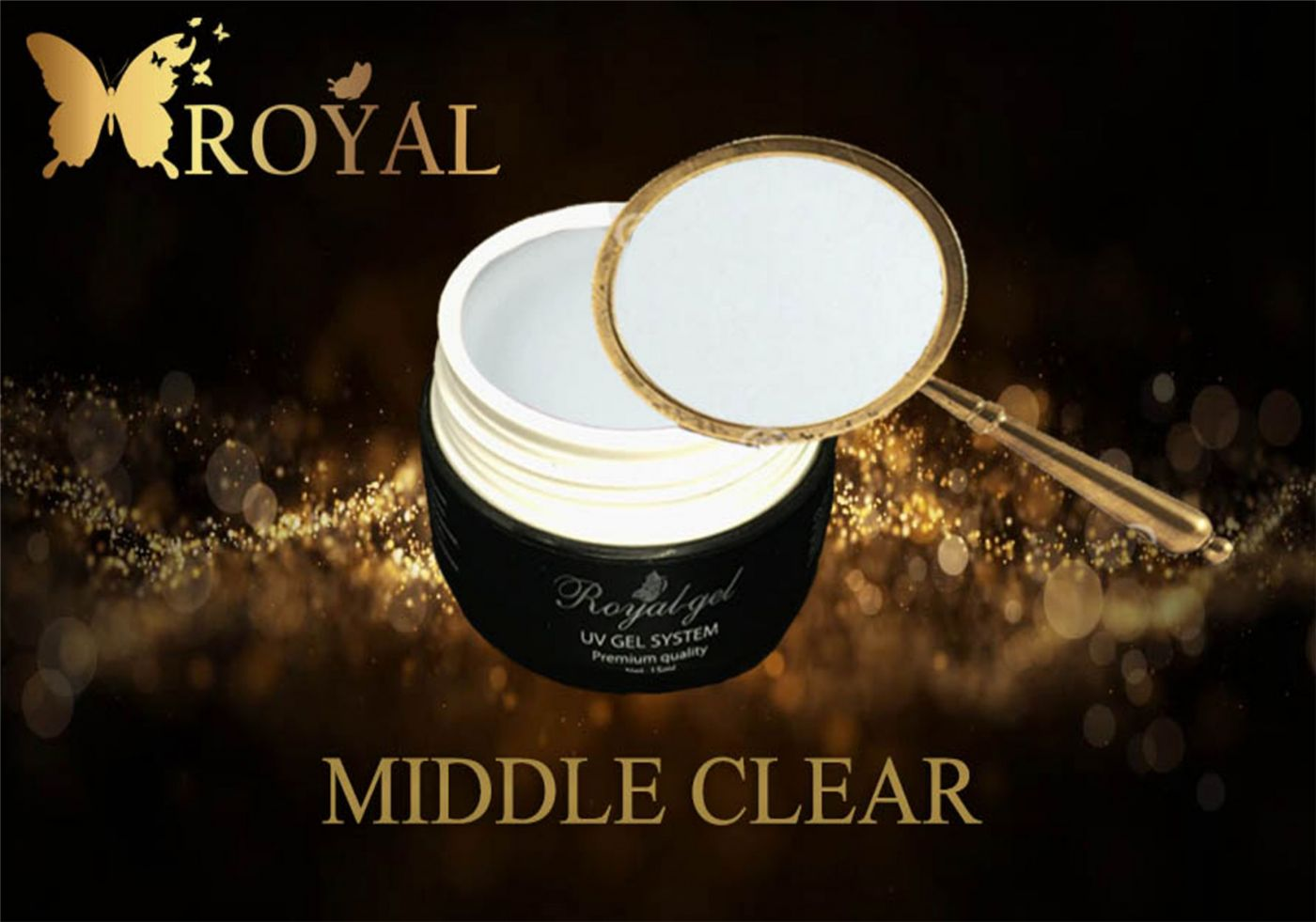 MIDDLE CLEAR GEL ROYAL