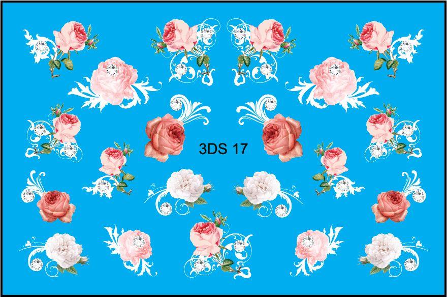 FREEDECOR 3D слайдер со стразами 3Ds-17 Цветы