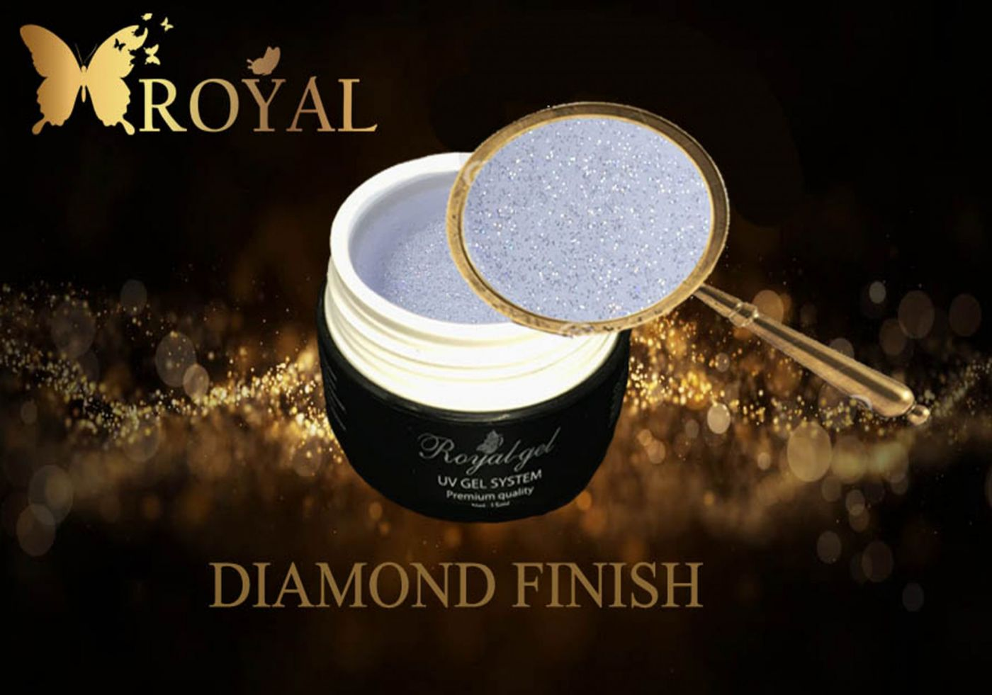 DIAMOND FINISH ROYAL GEL финишный гель c микроблеском