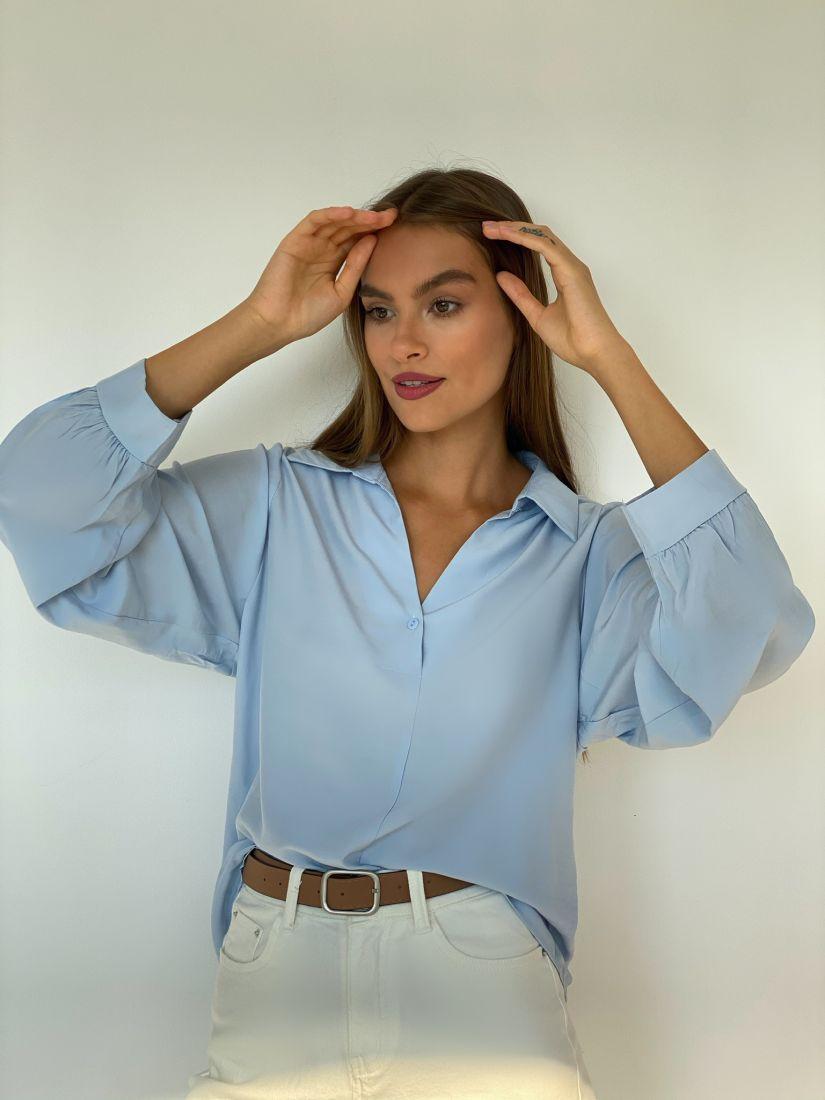 s2506 Рубашка голубая