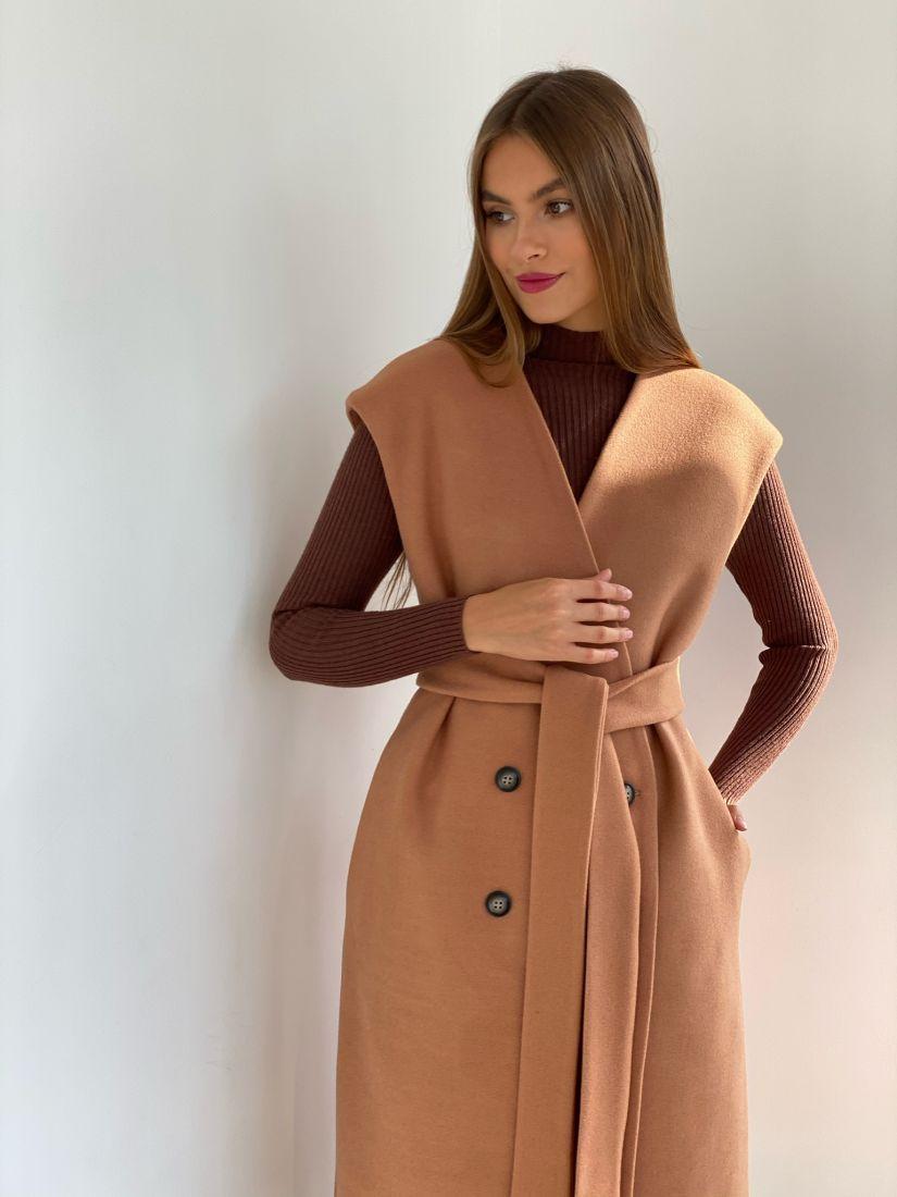 s2510 Жилет-пальто в цвете CAMEL
