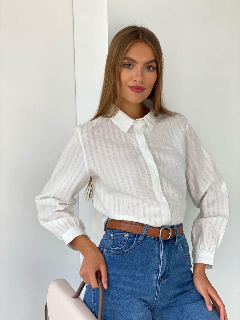 s2527 Белая рубашка классическая