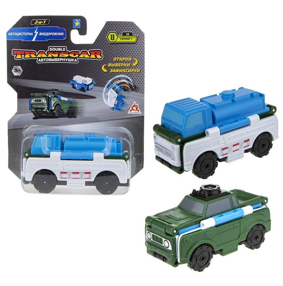 Transcar 2в1: Автоцистерна – Внедорожник, 8 см