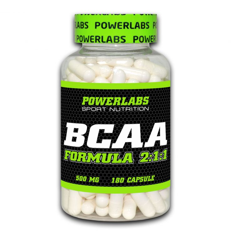 BCAA от PowerLabs 180 кап