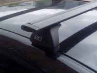 Багажник на крышу Chevrolet Niva (без рейлингов), Евродеталь, черные крыловидные дуги