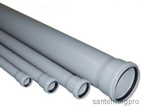 Труба канализационная ПП с раструбом 40х1000мм   114100 Птк (Арт. 114100)