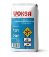 Противогололедный материал UOKSA Кристалл до -15°C, 1 кг