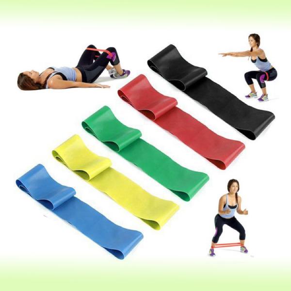 Набор фитнес-резинок Mini Bands различной нагрузки, 5 шт