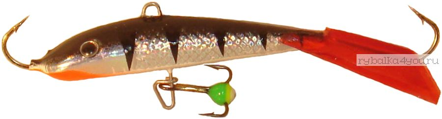 Купить Балансир Lucky John Fin 5 + тройник / 50 мм 19 гр цвет: 12HRT