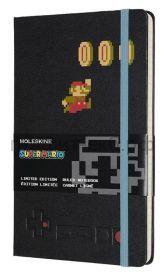 Книжка зап.Moleskine Large SUPER MARIO линейка черный Mario in Motion LESMQP060MA