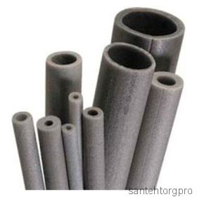Трубка вспененный полиэтилен НПЭ Т 25/9 L=2м серый Порилекс