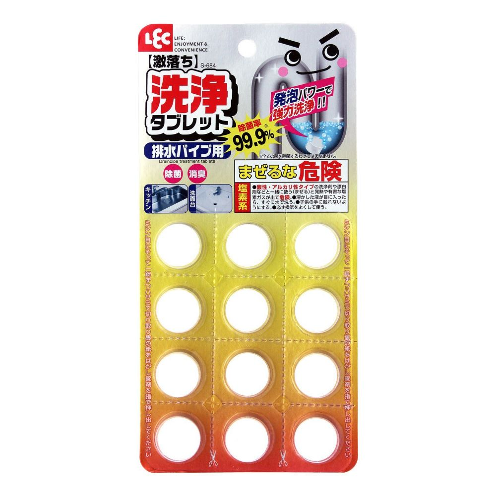 LEC Таблетки для прочистки засоров в сточных трубах 12 шт