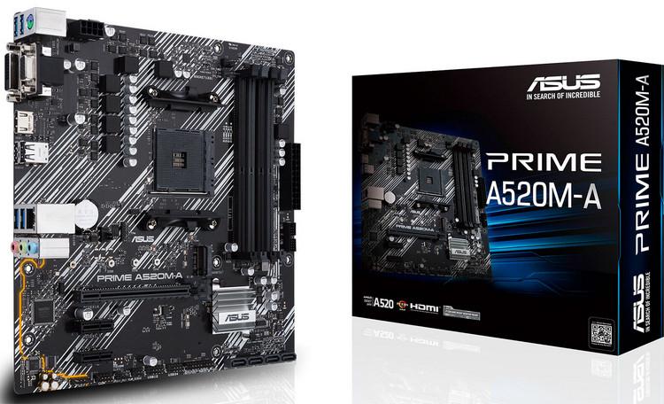 Материнская плата Asus Prime A520M-A Socket AM4