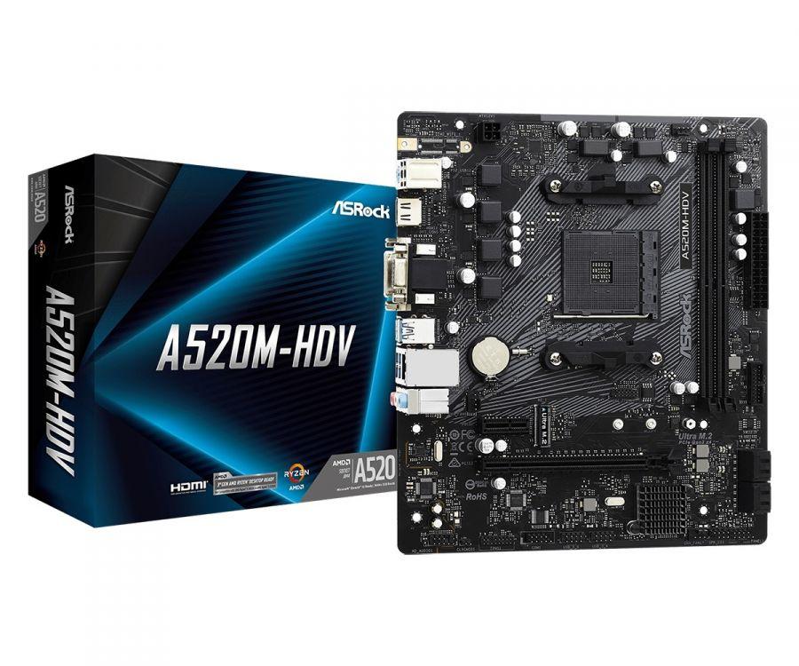 Материнская плата ASRock A520M-HDV Socket AM4